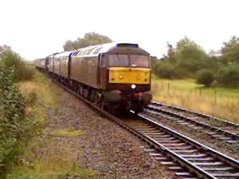 60009 Union Of South Africa being pulled backwards through Kinneil Station, Bo'ness 23 August 2009