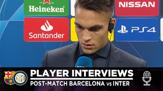 """BARCELONA 2-1 INTER   LAUTARO MARTINEZ INTERVIEW: """"Details made the difference"""" [SUB ENG]"""