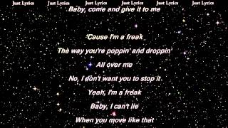 Enrique Iglesias - I'm A Freak - LYRICS ft. Pitbull