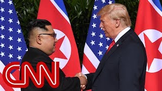 President Trump, Kim Jong Un meet in Singapore width=