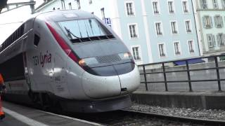Les Aigles à Cornavin avec TGV Lyria