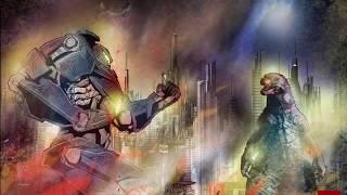 Gipsy Danger VS Godzilla !  by Ouv -