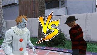 Freddy Krueger VS Pennywise (IT) - Death Battle (GTA 5)
