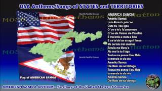 American Samoa Anthem AMERIKA SAMOA with music, vocal and lyrics