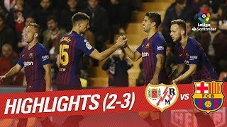 Resumen de Rayo Vallecano vs FC Barcelona (2-3)