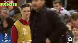Fernando Torres furious, gives Simeone death stare | 2017