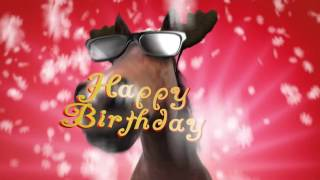 Funny Horse Happy Birthday/Merry Christmas After effects template