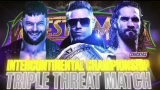 WWE Wrestlemania 34 The Miz vs Seth Rollins vs Finn Balor Official Match Card