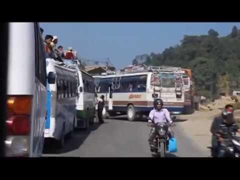 Traffic Jam in Kathmandu, Nepal As Dashain Festival 2010 Approaches