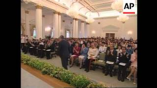Hong Kong - Prince Charles presents insignia