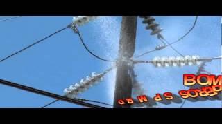 fuego de un palo de luz frente  a la compañia brugal sector los transformadores spm