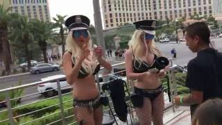 the most EPIC SAVAGE walk down Las Vegas Strip