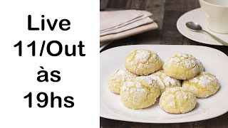 ? LIVE - 11/Out/2020: Receita Lemon Crinkle Cookies + Sorteio