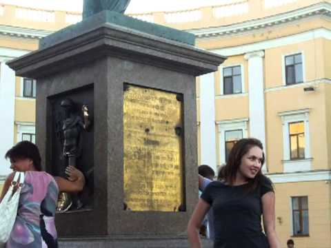 Hari Krishna chanting in Odessa by the Potemkin Steps Потьомкінські сходи Ukraine Aug 2011
