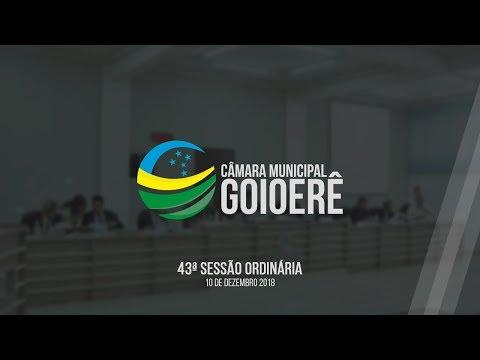 Vídeo na íntegra da sessão desta segunda-feira, 10, da Câmara Municipal de Goioerê