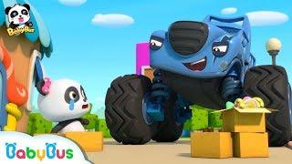 Bad Monster Car Stole Panda Miumiu's Candy | Monster Police Car | Car Songs & Story | BabyBus