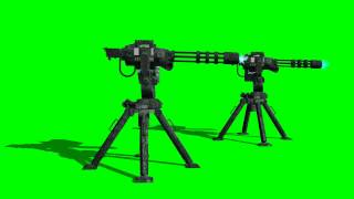COD Sentry Guns - gunfire 2 - free green screen - bestgreenscreen