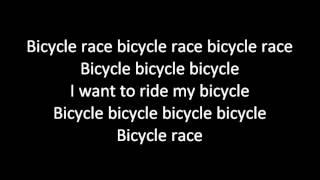 Queen - Bicycle Race (lyrics)