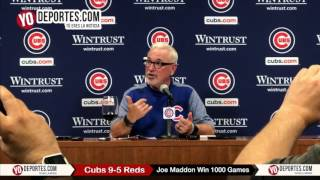 Joe Maddon Win 1,000 Games Chicago Cubs 9-5 Cincinnati Reds