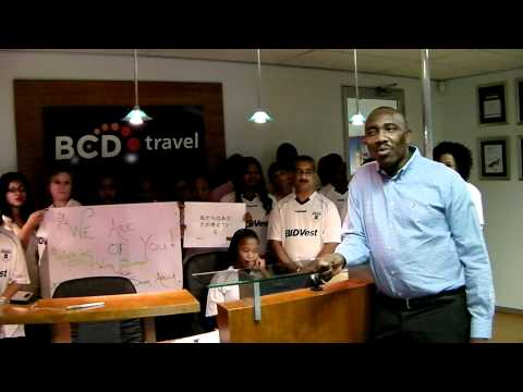 Message from BCD Travel South Africa to BCD Travel Japan