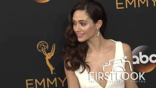 Emmy Rossum arriving at the 2016 EMMY Awards