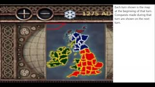 Medieval II Total War Multiplayer Campaign: Map Time-lapse