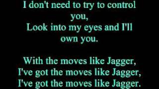 Maroon 5 (Feat. Christina Aguilera) - Moves Like Jagger (Uncensored and Lyrics)