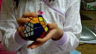 7years old solves Megaminx cube in 80.68 seconds