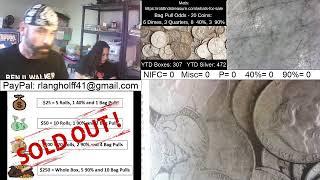 🔴Friday Half Dollar Hunt Live Stream - We Hit 40K