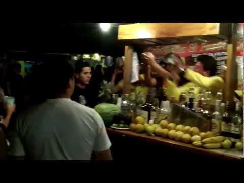 Bartenders in Montañita, Ecuador Make Drinks