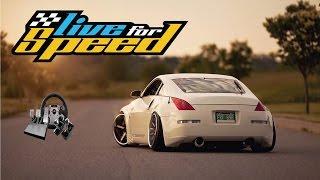 Live For Speed (LFS) - Nissan 350z (kısa tanıtım) - w/fanatec direksiyon seti