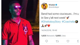 Wizkid gets dragged on twitter for Missing Coachella performance due to Visa problems