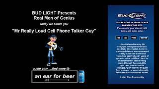 Mr Really Loud Cell Phone Talker Guy