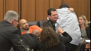 Father Attacks His Daughter's Killer in Court width=