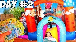 LAST TO LEAVE THE BOUNCY HOUSE WINS $1000 Challenge w/ The Norris Nuts