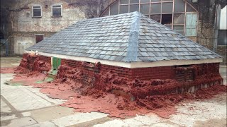 the movie - Melting House: A pound of flesh for 50p by Alex Chinneck