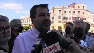 CROTONE: MATTEO SALVINI IN VISITA PER LA CAMPAGNA ELETTORALE