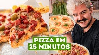 PIZZA CASEIRA DE LIQUIDIFICADOR, RECEITA RÁPIDA E FÁCIL