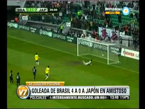 Visión 7: Goleada de Brasil a Japón en amistoso preparatorio del próximo Mundial
