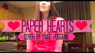 Paper Hearts cover by Paige Poggione