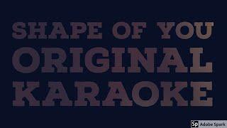 Shape of you high quality karaoke for free | Sing along | Ed Sheeran | Shape of you with lyrics