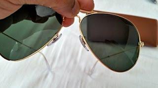 How to Spot Fake Rayban Aviator Sunglasses (highest grade fake RB 3025)