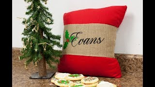 Creating a Festive Christmas in July Pillow Band Using Siser Glitter and EasyWeed width=