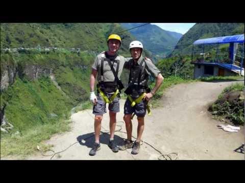 Ziplining Over Waterfalls