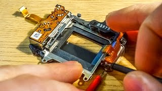 Camera shutter - how does it work and electrical test