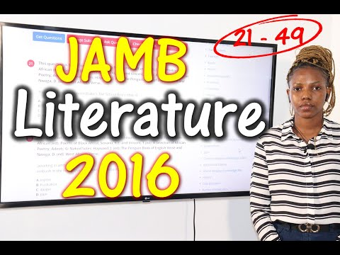 JAMB CBT Literature in English 2016 Past Questions 21 - 49