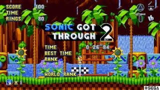 Sonic mania sonic 2 master system level green hills zone