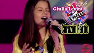 Giulia Levita, cantando: Corazón Partío The Voice Kids da nova temporada 2019