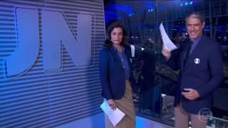 [HD] William Bonner comete gafe e pede desculpas pro público no Jornal Nacional - 05/08/2016