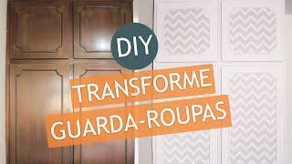 DIY | Renove o guarda-roupas com adesivo | Por Endy Benittis